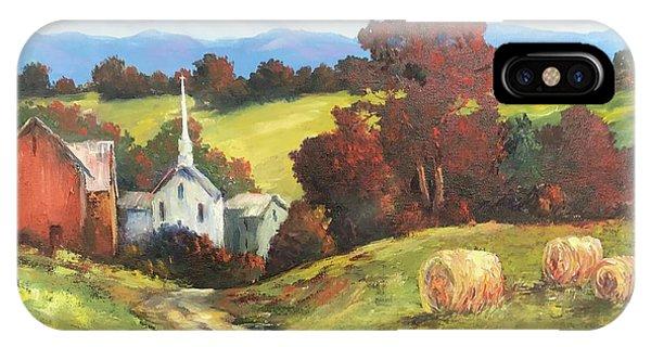 New England Barn iPhone Case - Autumn Splendor by ML McCormick