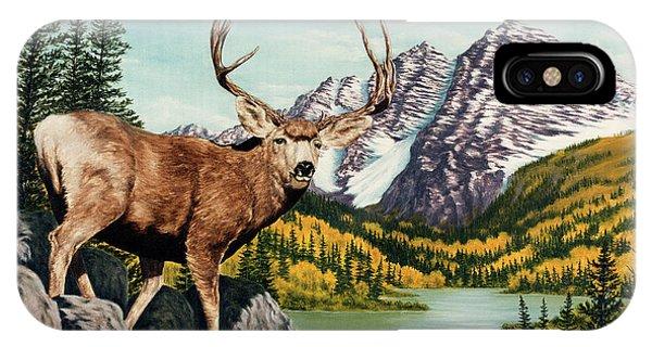 Mule Deer iPhone Case - Autumn Splendor by Rick Bainbridge