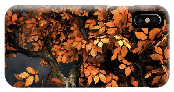 Tree iPhone X Case - Autumn Storm by Cynthia Decker