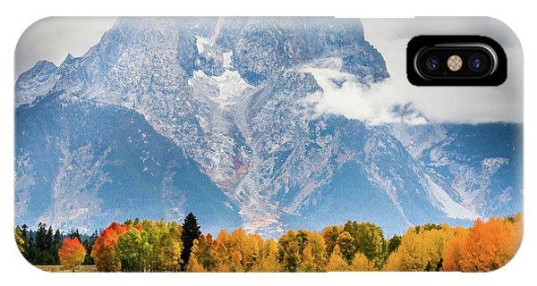 Autumn Storm Over Mount Moran IPhone Case