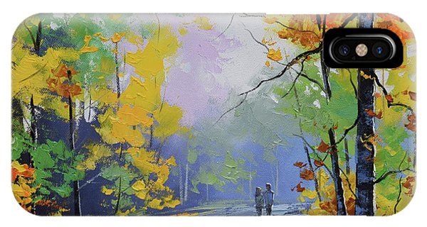 Nature Scene iPhone Case - Autumn Stroll by Graham Gercken