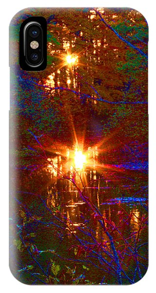 Autumn Sunburst Reflections IPhone Case