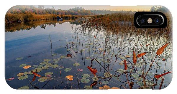 Autumn Sunrise At Compass Pond IPhone Case