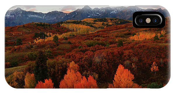 Autumn Sunrise At Dallas Divide In Colorado IPhone Case