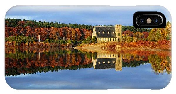 New England Fall Foliage iPhone Case - Autumn Sunrise At Wachusett Reservoir by Luke Moore