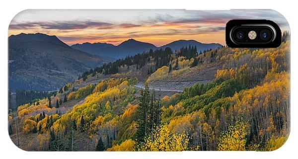 Autumn Sunset At Guardsman Pass, Utah IPhone Case