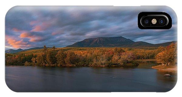 Autumn Sunset At Mount Katahdin IPhone Case
