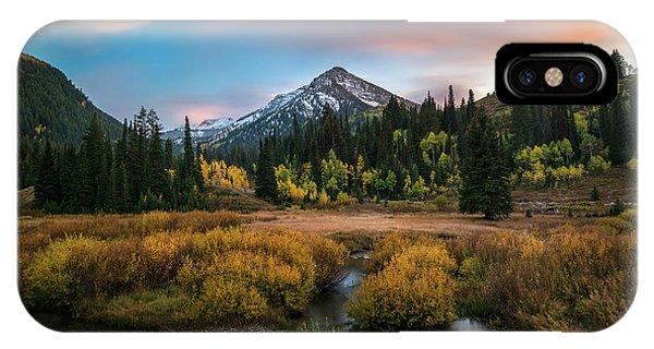 Autumn Sunset In Big Cottonwood Canyon IPhone Case