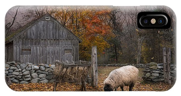 Sheep iPhone X / XS Case - Autumn Sweater by Robin-Lee Vieira