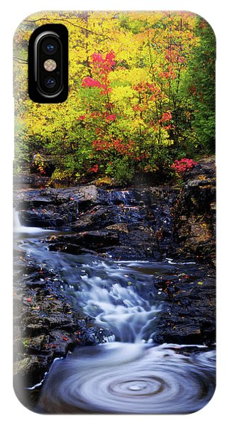 Creek iPhone Case - Autumn Swirls by Chad Dutson
