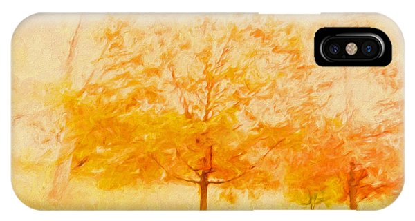 Autumn Trees Abstract IPhone Case