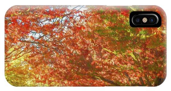 Autumn Trees Digital Watercolor IPhone Case