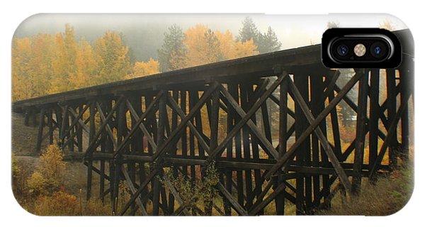 Trestle iPhone Case - Autumn Trestle by Idaho Scenic Images Linda Lantzy