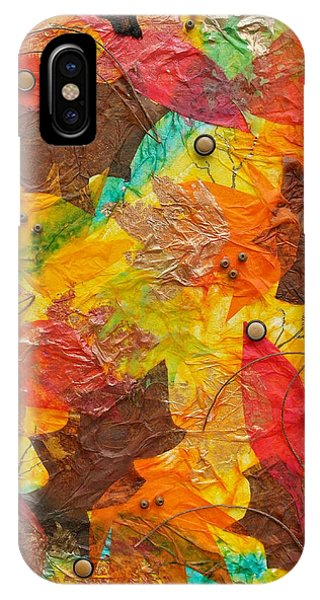 Autumn Leaves Underfoot IPhone Case