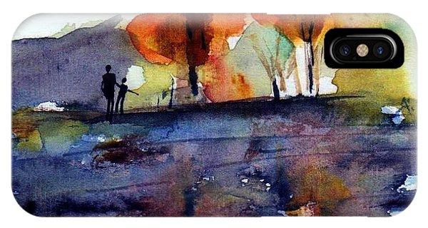 Lake iPhone Case - Autumn Walk by Anne Duke
