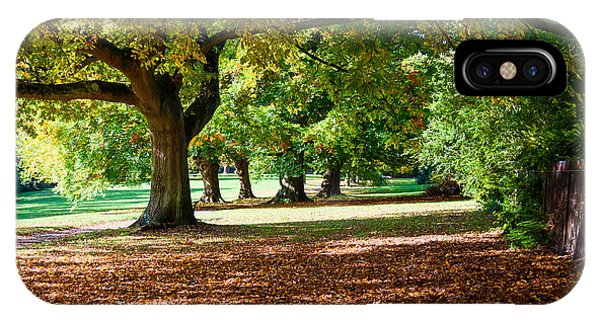 Autumn Walk In The Park IPhone Case