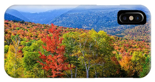 Autumn White Mountains Nh IPhone Case