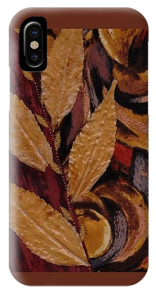 IPhone Case featuring the mixed media Autumn Wind by Linda Mae Olszanski