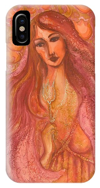 Autumn With Gold Flower IPhone Case