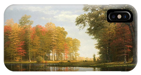 Wood Ducks iPhone Case - Autumn Woods by Albert Bierstadt
