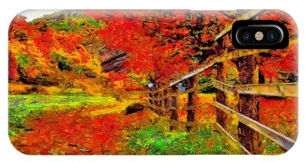 Autumnal Blaze Of Glory IPhone Case