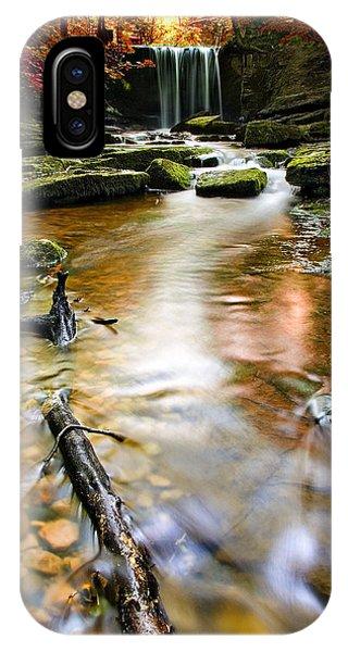 Creek iPhone Case - Autumnal Waterfall by Meirion Matthias
