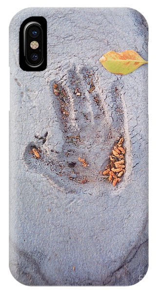 Autumns Child Or Hand In Concrete IPhone Case