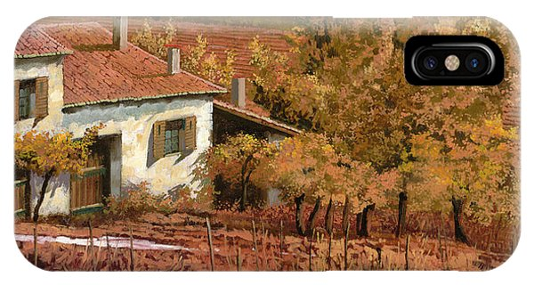 Farm iPhone Case - Autunno Rosso by Guido Borelli