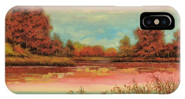 Season iPhone Case - Autunno Sul Lago by Guido Borelli