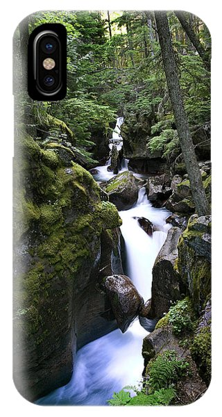 Avalanche Gorge Glacier National Park IPhone Case