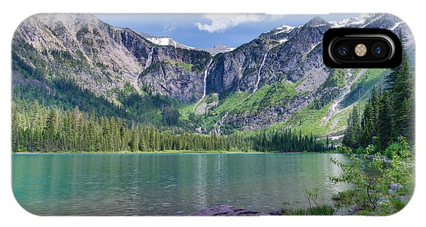 IPhone Case featuring the photograph Avalanche Lake by Adam Mateo Fierro