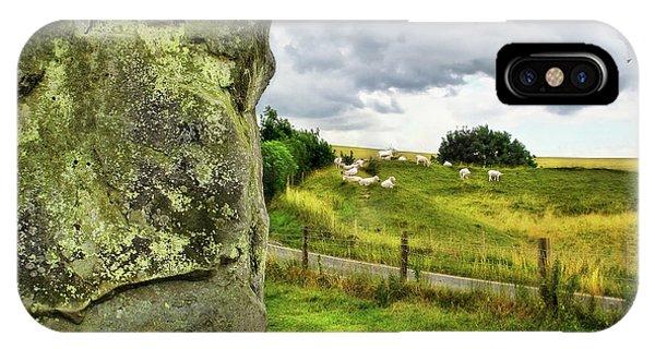Avebury Standing Stone And Sheep IPhone Case