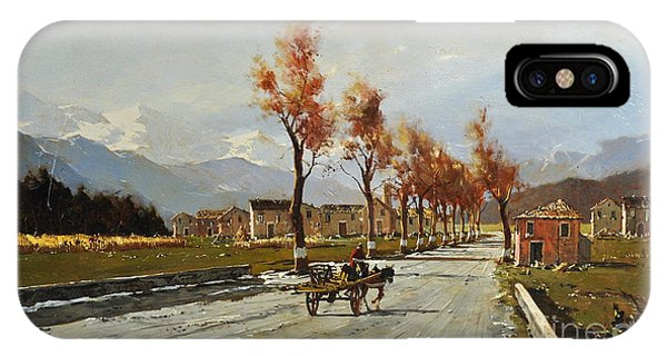 IPhone Case featuring the painting Avellino's Landscape  by Rosario Piazza