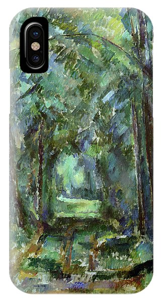 Avenue iPhone Case - Avenue At Chantilly by Paul Cezanne
