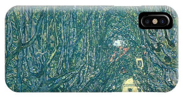 Avenue iPhone Case - Avenue In The Park Of Schloss Kammer by Gustav Klimt