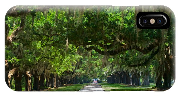 Avenue Of The Oaks At Boonville Plantation IPhone Case