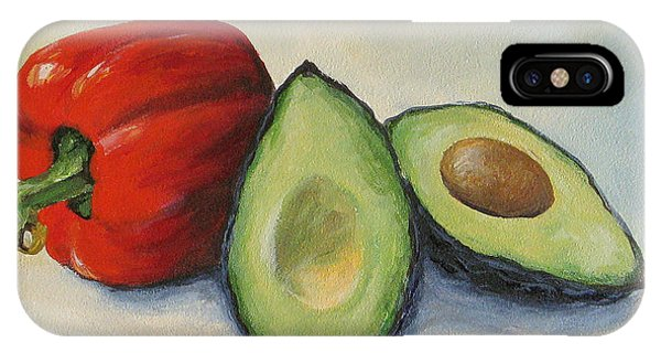 Avocado With Bell Pepper IPhone Case