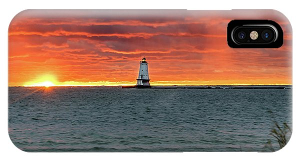 Awesome Sunset With Lighthouse  IPhone Case