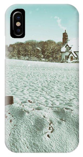 Treeline iPhone Case - Axe In The Snow by Amanda Elwell