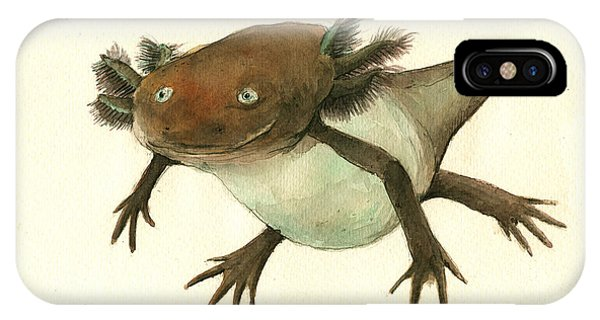 Salamanders iPhone Case - Axolotl by Juan Bosco