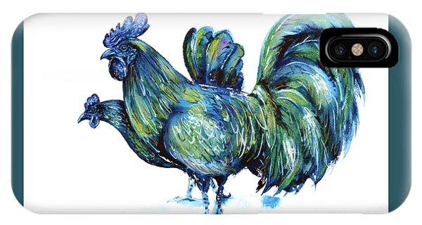 Ayam Cemani Pair IPhone Case