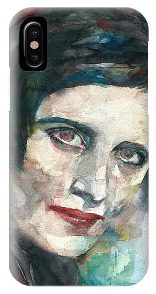 Ayn Rand iPhone Case - Ayn Rand - Watercolor Portrait.3 by Fabrizio Cassetta