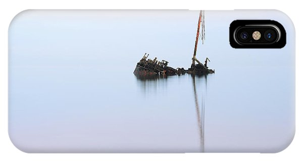 Ayrshire Shipwreck In Sunrise Ref3342 IPhone Case