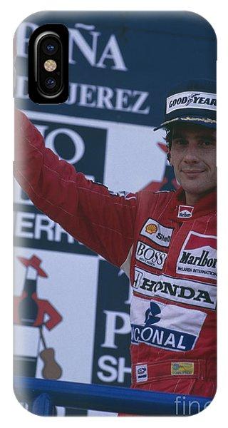 Ayrton Senna. 1989 Spanish Grand Prix Winner IPhone Case