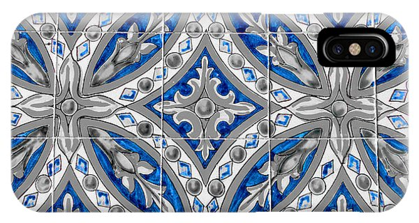 Azulejo - Blue Floral Decoration  IPhone Case