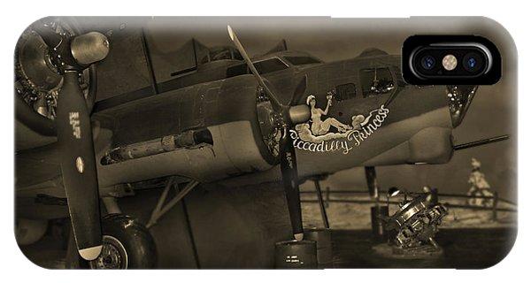 Bomber iPhone Case - B - 17 Field Maintenance  by Mike McGlothlen