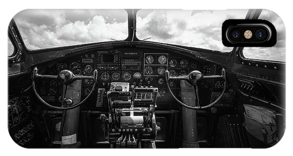 Uas iPhone Case - B-17 Flying Fortress Cockpit by Mike Burgquist