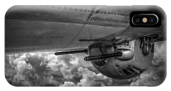 Uas iPhone Case - B17 Turret by Mike Burgquist
