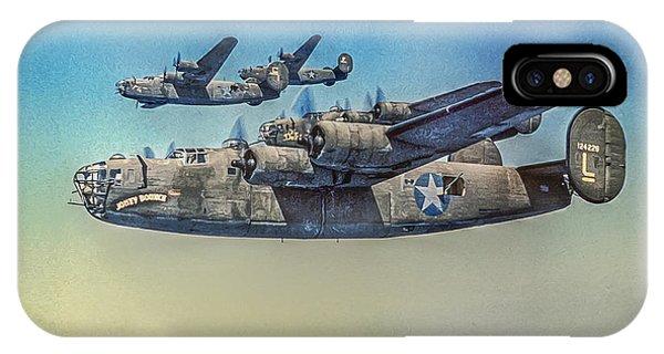 Bomber iPhone Case - B-24 Liberator Bomber by Randy Steele