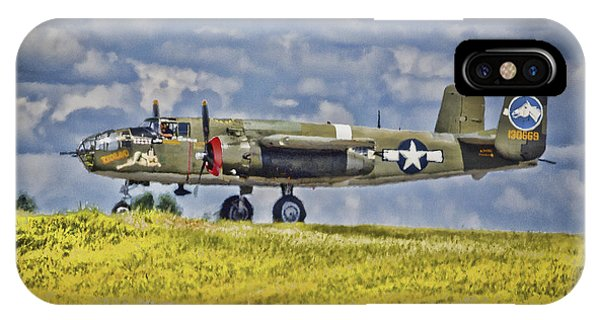 B-25 Landing Akron/canton Ohio IPhone Case